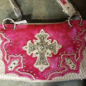 Western style bling purse